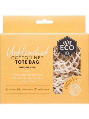 EVER ECO Tote Bag Cotton Net - Long Handle 1