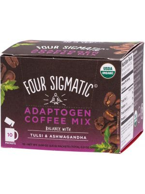 FOUR SIGMATIC Adaptogen Coffee Mix Packets With Tulsi & Ashwagandha 10x2.5g