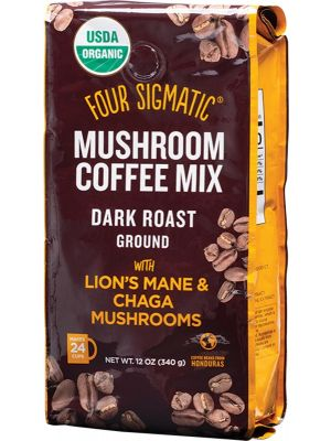 FOUR SIGMATIC Mushroom Coffee Mix Ground With Lion's Mane & Chaga 340g