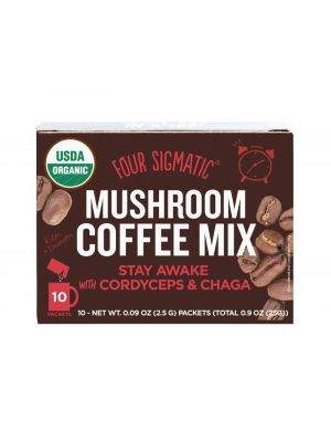 FOUR SIGMATIC Mushroom Coffee Mix Packets With Cordyceps & Chaga 10 x 2.5g