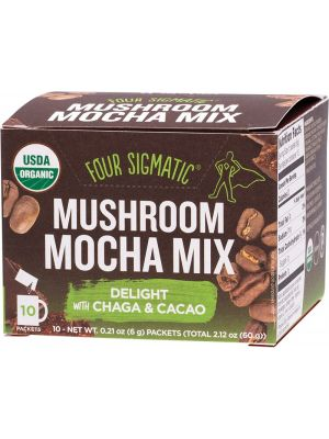FOUR SIGMATIC Mushroom Mocha Mix Packets With Chaga & Cacao 10x6g