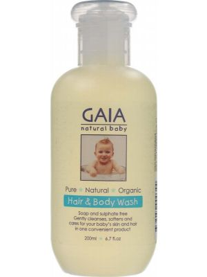 Gaia Natural Baby Baby Hair & Body Wash 200ml