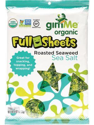GIMME Roasted Seaweed Full Sheets Sea Salt (7 Sheets) 26g