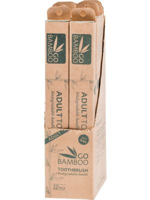 GO BAMBOO Toothbrush - Adult (Box Of 12)