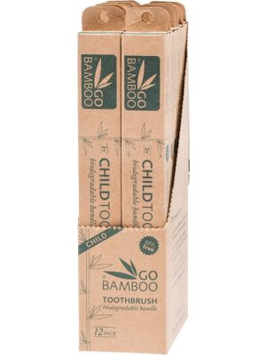 GO BAMBOO Toothbrush - Children Display (Box Of 12) 12