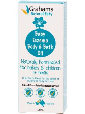 GRAHAMS NATURAL Baby Eczema Body & Bath Oil For Babies And Children 100ml