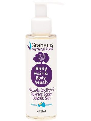 GRAHAMS NATURAL Baby Hair & Body Wash For Babies And Children 125ml