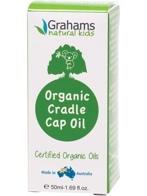 GRAHAMS NATURAL Certified Organic Cradle Cap Oil With Comb 50ml