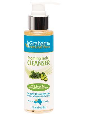 GRAHAMS NATURAL Foaming Facial Wash With Green Tea Aloe & Cucumber 125ml