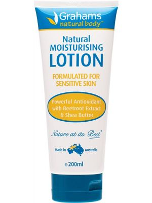 GRAHAMS NATURAL Moisturising Body Lotion With Beetroot & Shea Butter 200ml