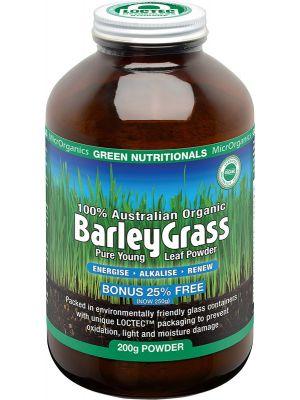 GREEN NUTRITIONALS Barleygrass 100% Australian Organic 200g