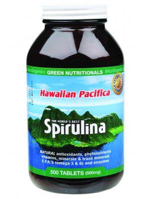 GREEN NUTRITIONALS Spirulina Tablets 500 tabs