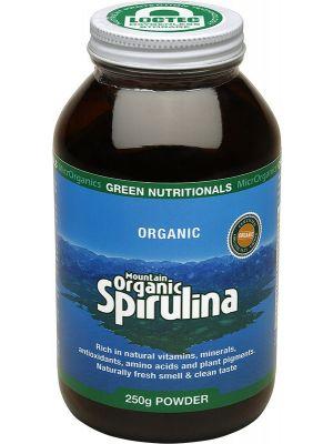 GREEN NUTRITIONALS Mountain Organic Spirulina Powder - Amber Glass 250g