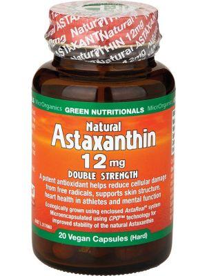 GREEN NUTRITIONALS Natural Astaxanthin Vegan Caps (12mg) - Double Strength 20