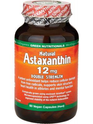 GREEN NUTRITIONALS Natural Astaxanthin Vegan Caps (12mg) - Double Strength 60