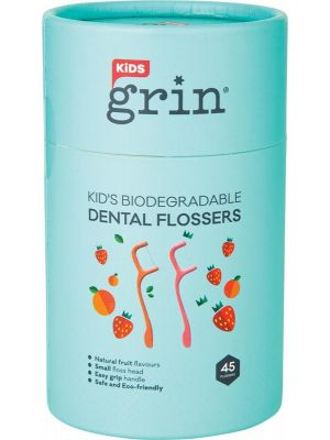 GRIN Biodegradable Dental Flossers Kid's 45