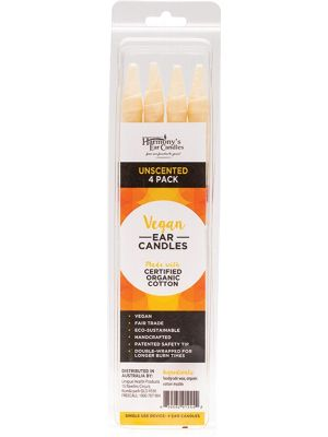 HARMONY'S EAR CANDLES Vegan Ear Candles Unscented 4 pack