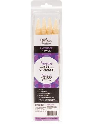 HARMONY'S EAR CANDLES Vegan Ear Candles Lavender Scented 4 pack