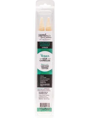 HARMONY'S EAR CANDLES Vegan Ear Candles Eucalyptus, Lav & Peppermint 2 pack