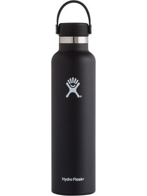 HYDRO FLASK Standard Mouth - Flex Cap Double Insulated - Black 710ml