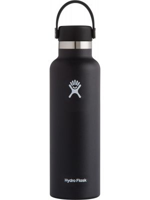 HYDRO FLASK Standard Mouth - Flex Cap Double Insulated - Black 621ml