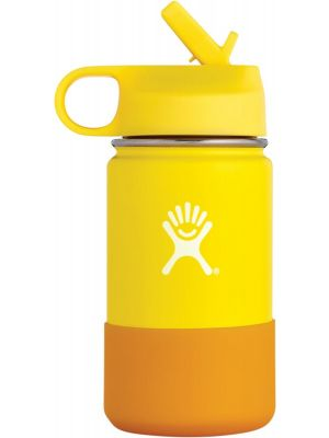 HYDRO FLASK Wide Mouth Kids - Straw Lid Double Insulated - Lemon 355ml