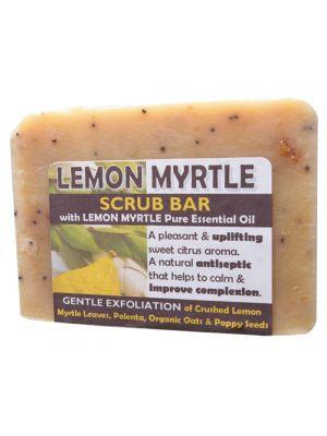Harmony Soapworks Lemon Myrtle Scrub Bar 140g
