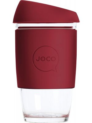 JOCO Reusable Glass Cup Extra Small 6oz - Ruby Wine 177ml