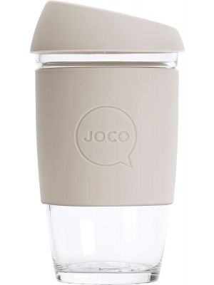 JOCO Reusable Glass Cup Extra Small 6oz - Sandstone 177ml