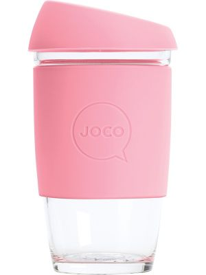 JOCO Reusable Glass Cup Extra Small 6oz - Strawberry 177ml