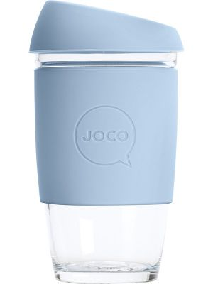JOCO Reusable Glass Cup Extra Small 6oz - Vintage Blue 177ml
