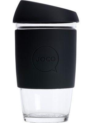 JOCO Reusable Glass Cup Large 16oz - Black 473ml