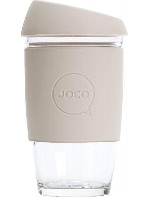 JOCO Reusable Glass Cup Large 16oz - Sandstone 473ml