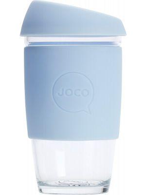 JOCO Reusable Glass Cup Large 16oz - Vintage Blue 473ml
