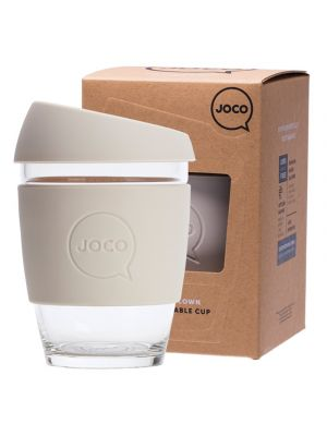 JOCO Reusable Glass Cup Regular 12oz - Sandstone 354ml