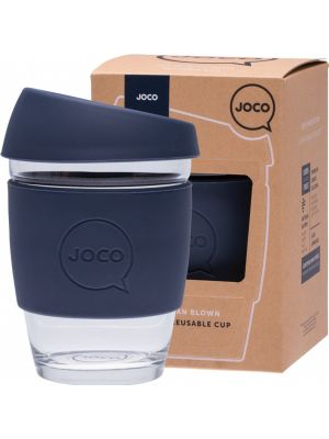 JOCO Reusable Glass Cup Regular 12oz - Mood Indigo 354ml