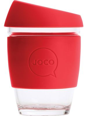 JOCO Reusable Glass Cup Regular 12oz - Red 354ml