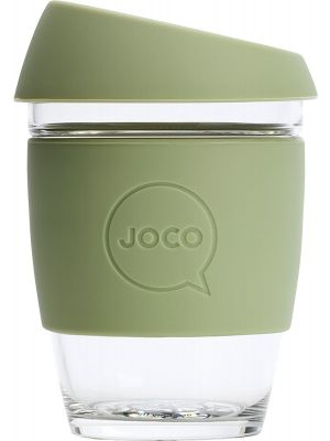 JOCO Reusable Glass Cup Regular 12oz - Army 354ml