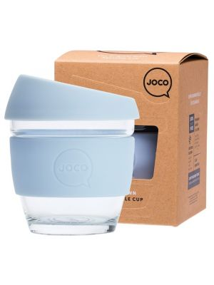 JOCO Reusable Glass Cup Small 8 Oz - Vintage Blue 236ml