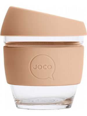 JOCO Reusable Glass Cup Small 8oz - Amberlight 236ml