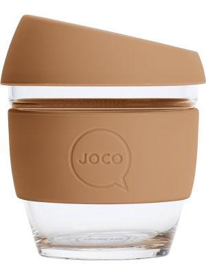 JOCO Reusable Glass Cup Small 8oz - Butterum 236ml