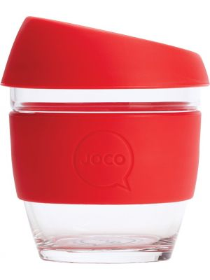 JOCO Reusable Glass Cup Small 8oz - Red 236ml