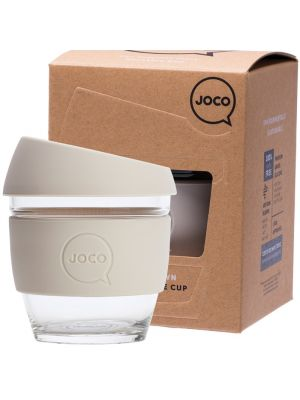 JOCO Reusable Glass Cup Small 8oz - Sandstone 236ml