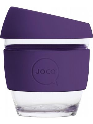 JOCO Reusable Glass Cup Small 8oz - Violet 236ml