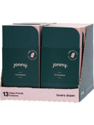 JONNY Vegan-Friendly Latex Condoms Lovers Dozen 10x13