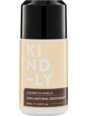 KIND-LY 100% Natural Deodorant Coconut & Vanilla 60ml
