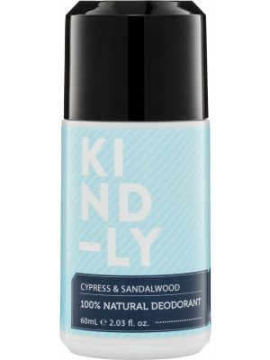 KIND-LY 100% Natural Deodorant Cypress & Sandalwood 60ml