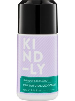 KIND-LY 100% Natural Deodorant Lavender & Bergamot 60ml