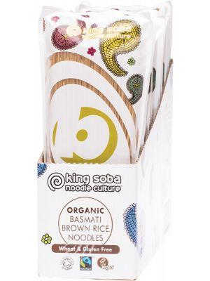 KING SOBA Basmati Brown Rice Noodles 12x250g
