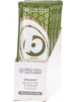 KING SOBA Brown Rice & Wakame Noodles 12x250g